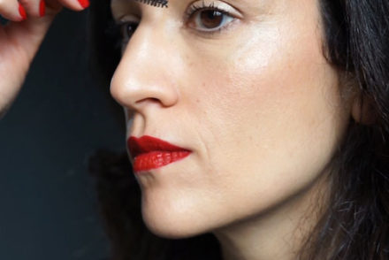 tutoriel maquillage rouge a levres rouge mat