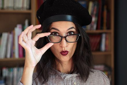 idee maquillage lunettes foncees noires