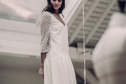 robe mariee courte made in france