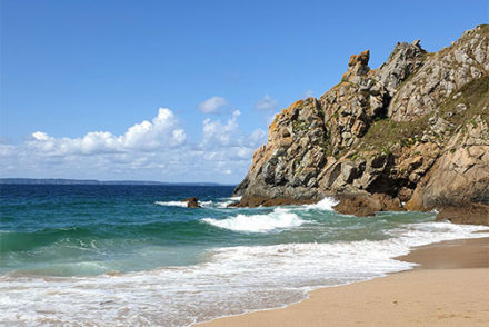plage pors peron finistere sud